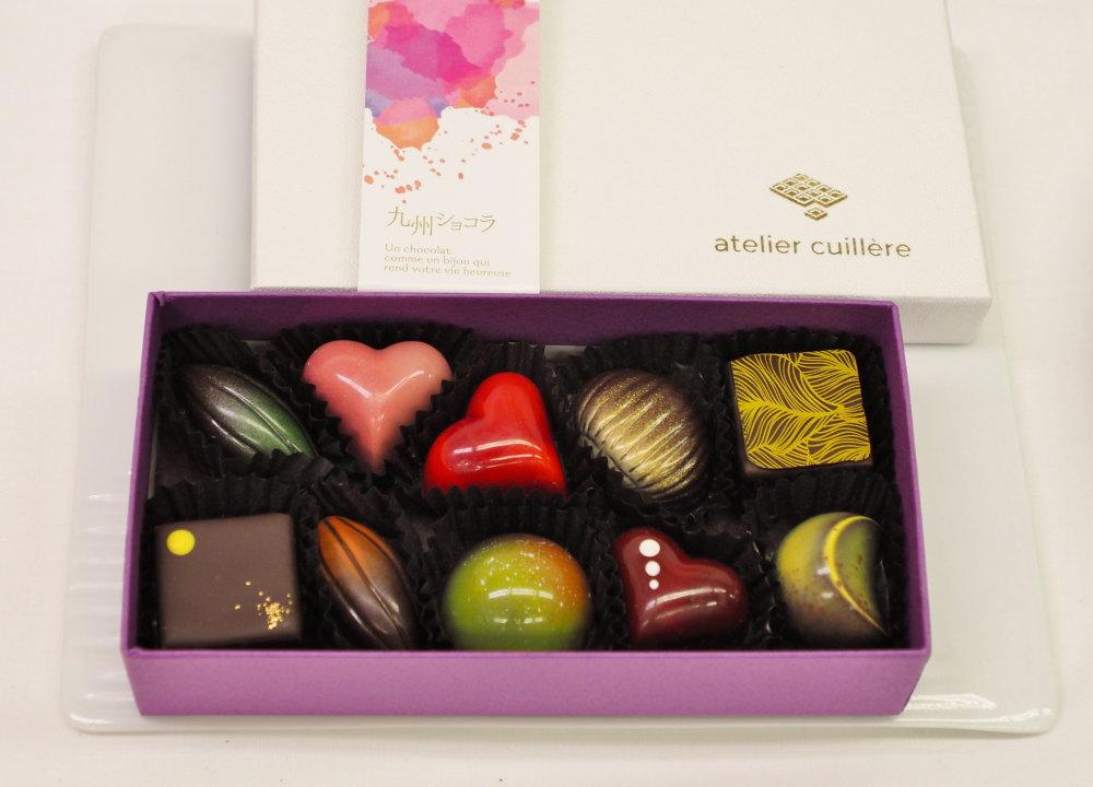 アトリエキュイエールの10粒 松屋銀座のバレンタイン限定ボックス