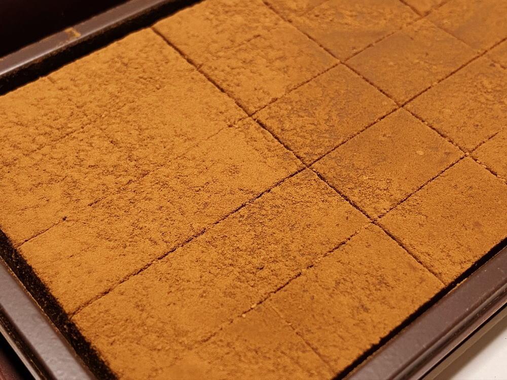 糖質88%カットのとろけるショコラ 生チョコ風 食レポ