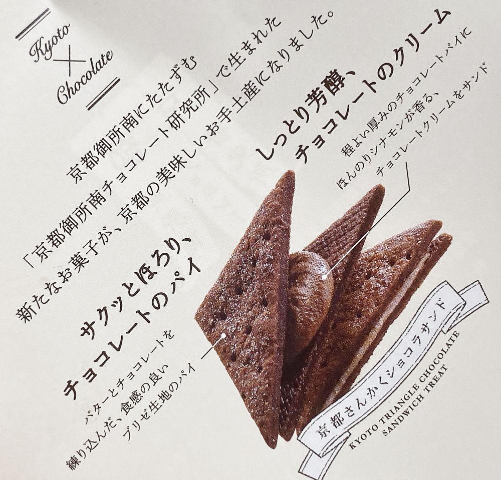 京都さんかくショコラサンドの説明
