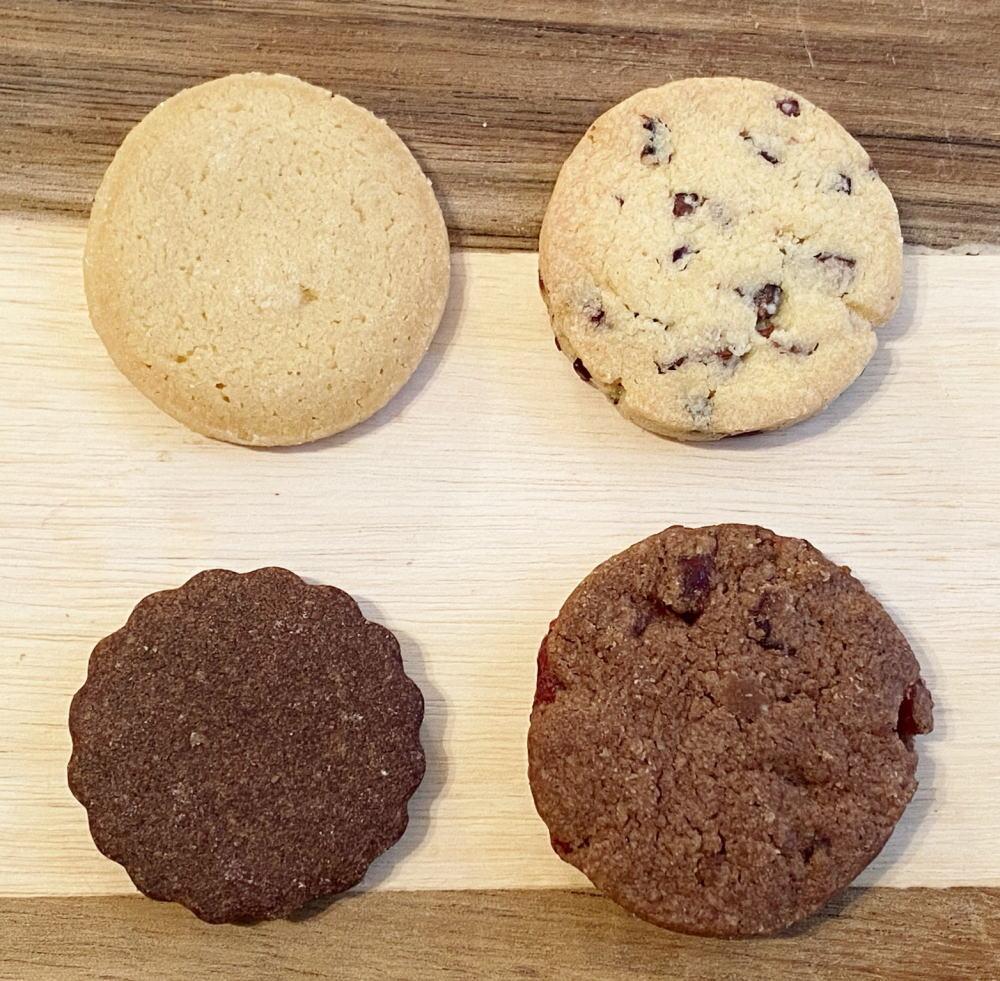 カカオニブ チョコレートのサブレ4種