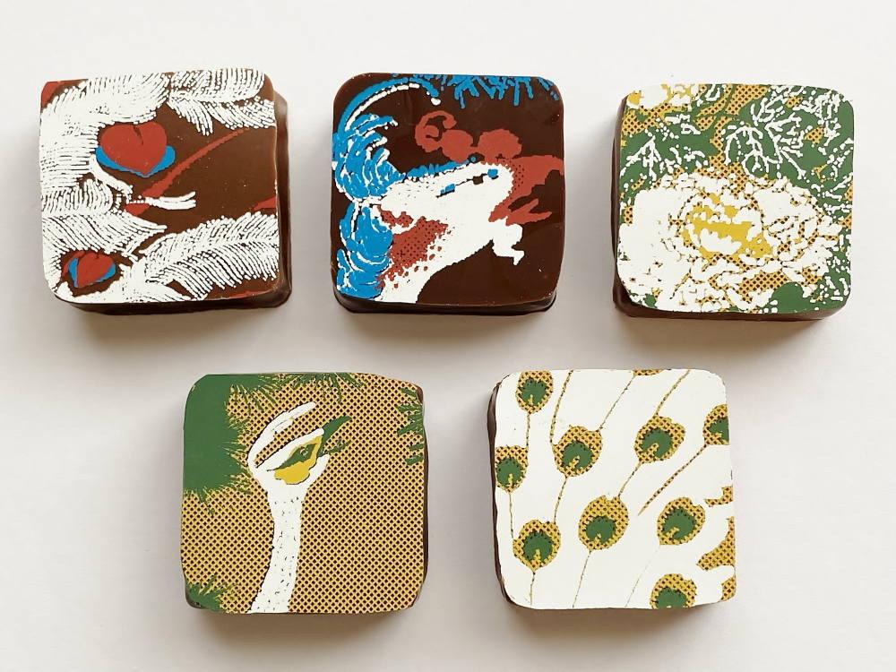 Okada Museum Chocolate『若冲・孔雀鳳凰』 5個入り