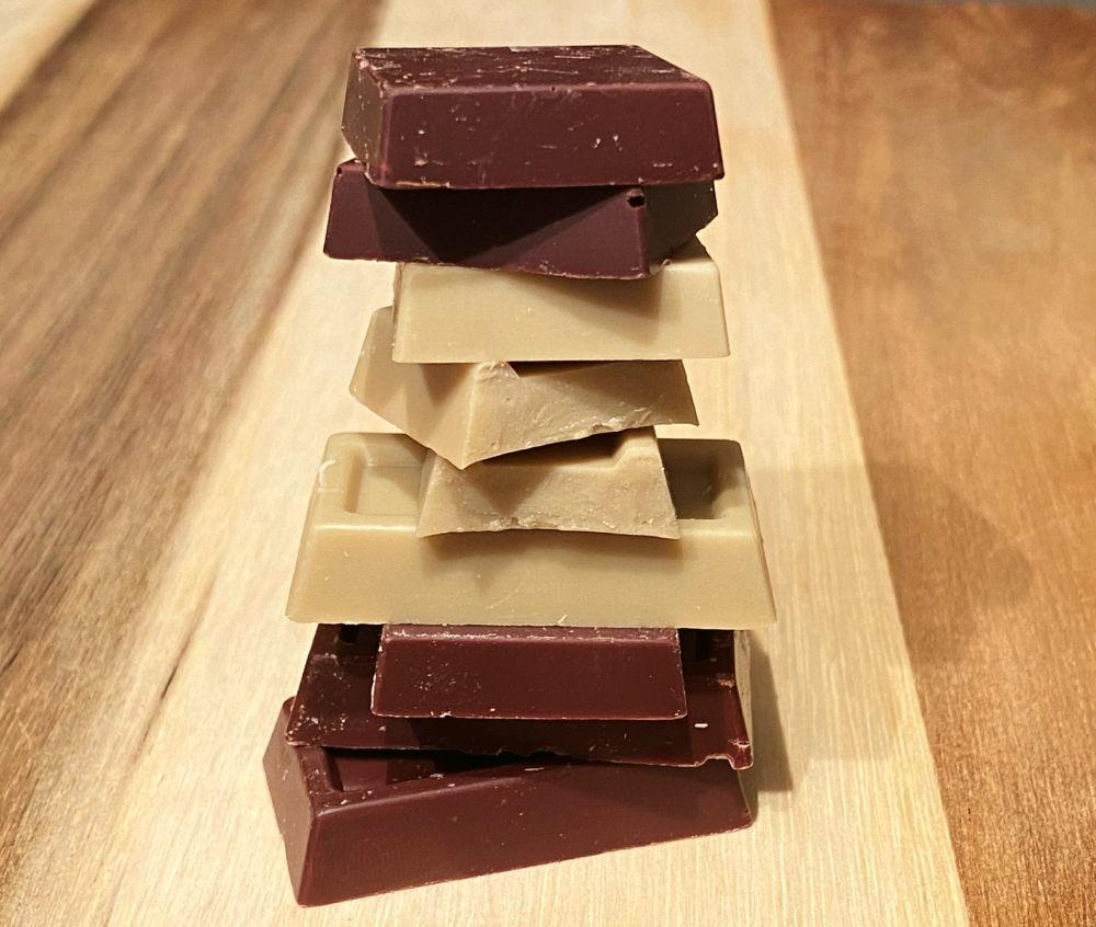 2Uチョコレート 断面