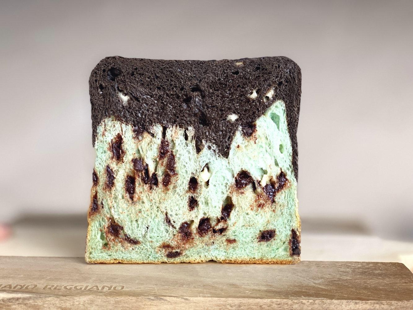 チョコミント食パン 食べてみた