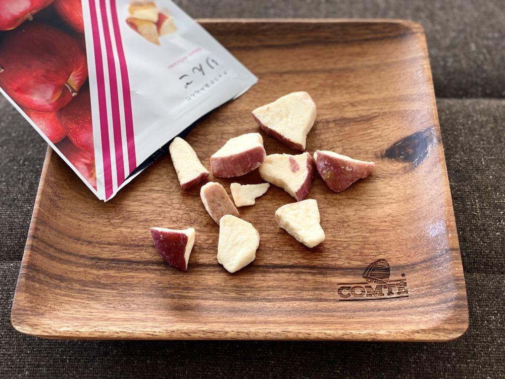 チョコが染み込んだりんご