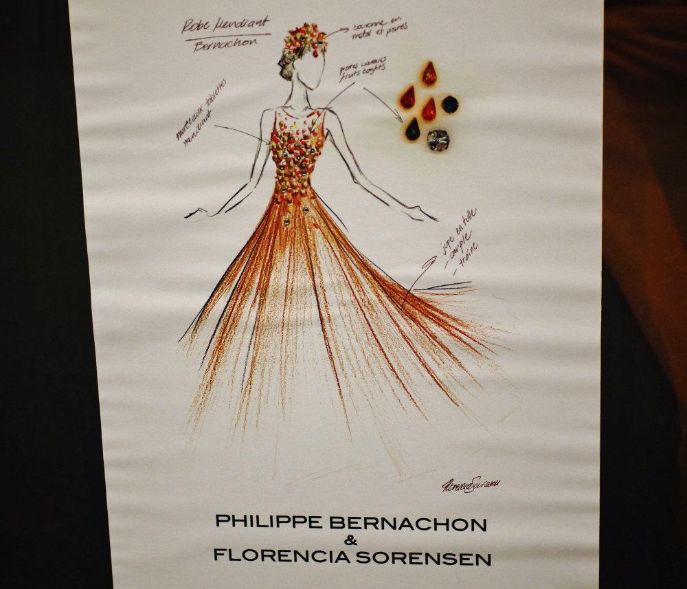 ベルナシオン チョコレートのドレス
