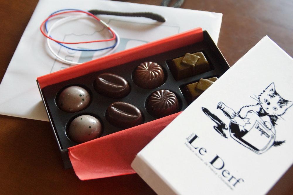 ブルーノルデルフ カクテルのチョコレート