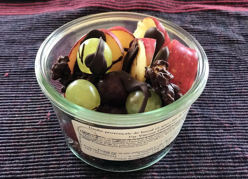 フルーツのチョコレートがけ