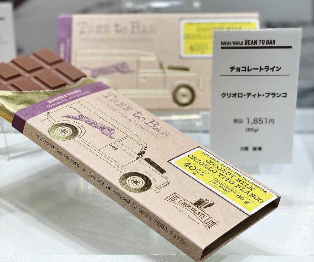 チョコレートラインの板チョコ