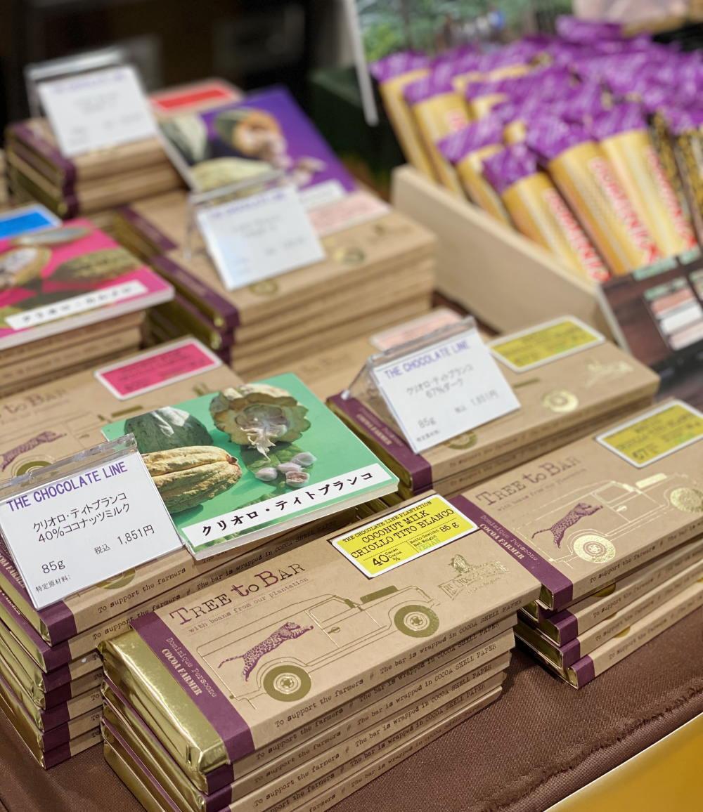 チョコレートラインの板チョコの種類