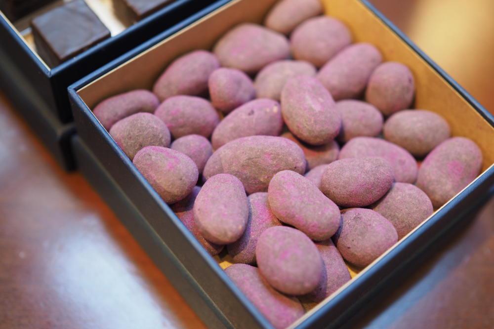 サツマイモパウダーを使った豆チョコ