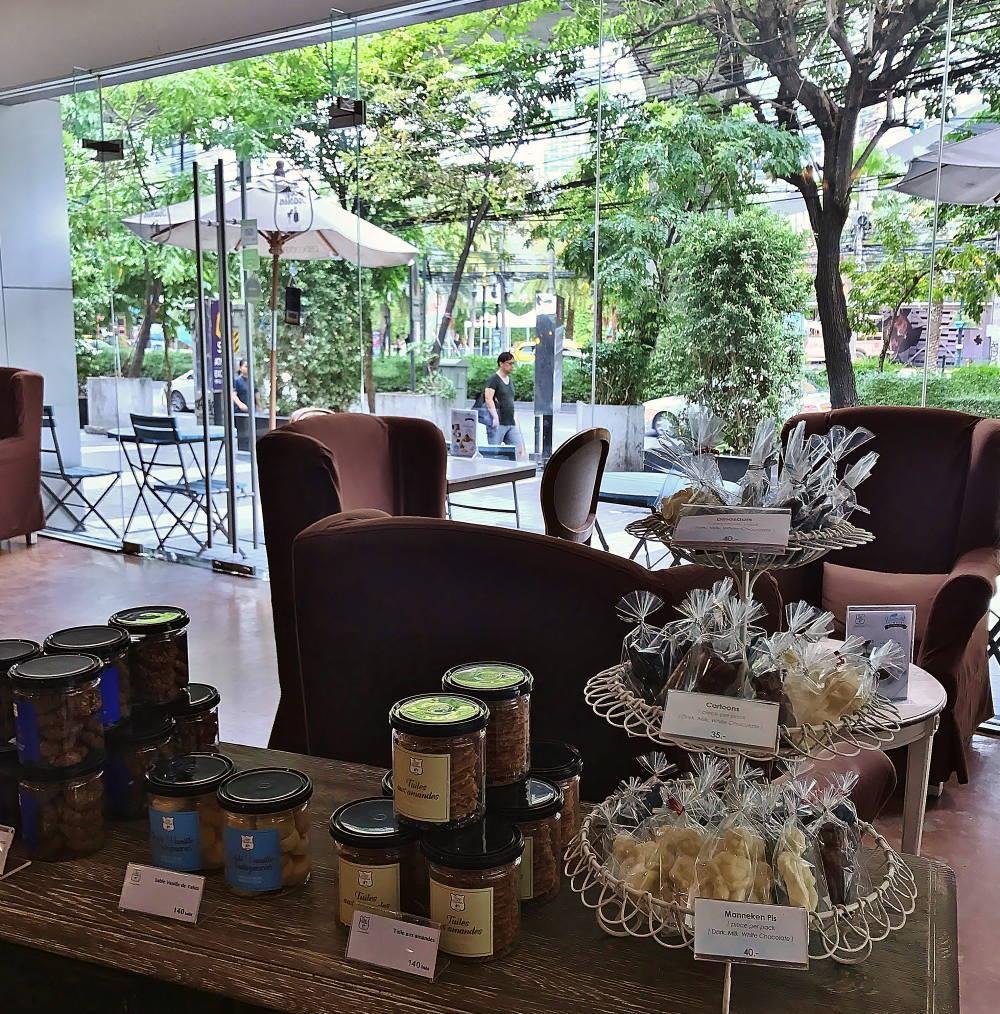 バンコクのチョコレートショップ Duc de Praslin 店内の様子
