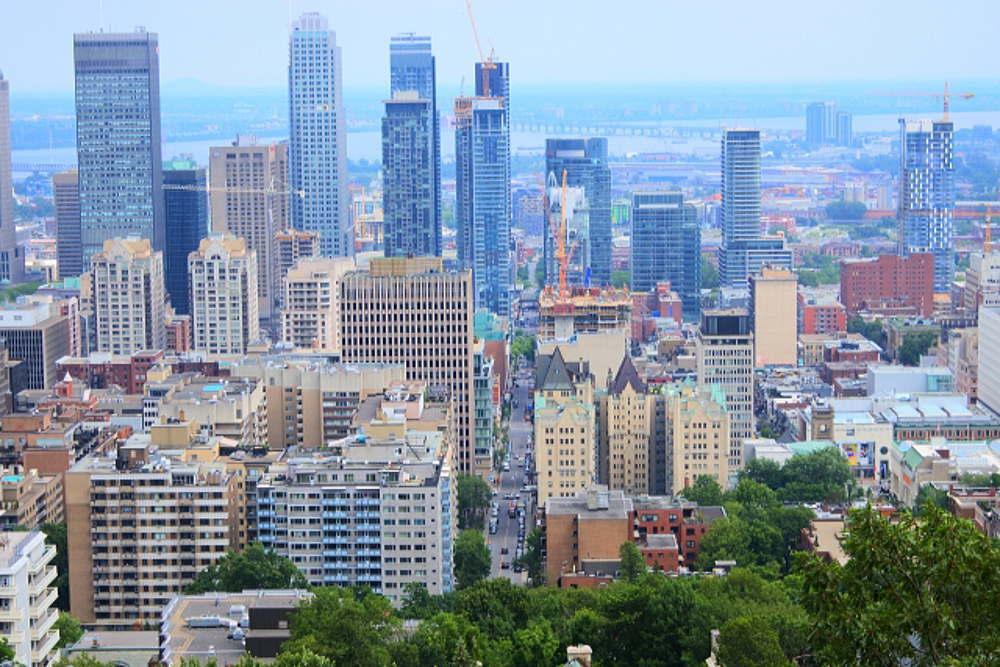 モントリオールの街並み