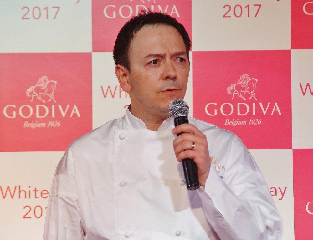 ゴディバ ジャパン シェフ ショコラティエ ヤニック・シュヴォロー氏