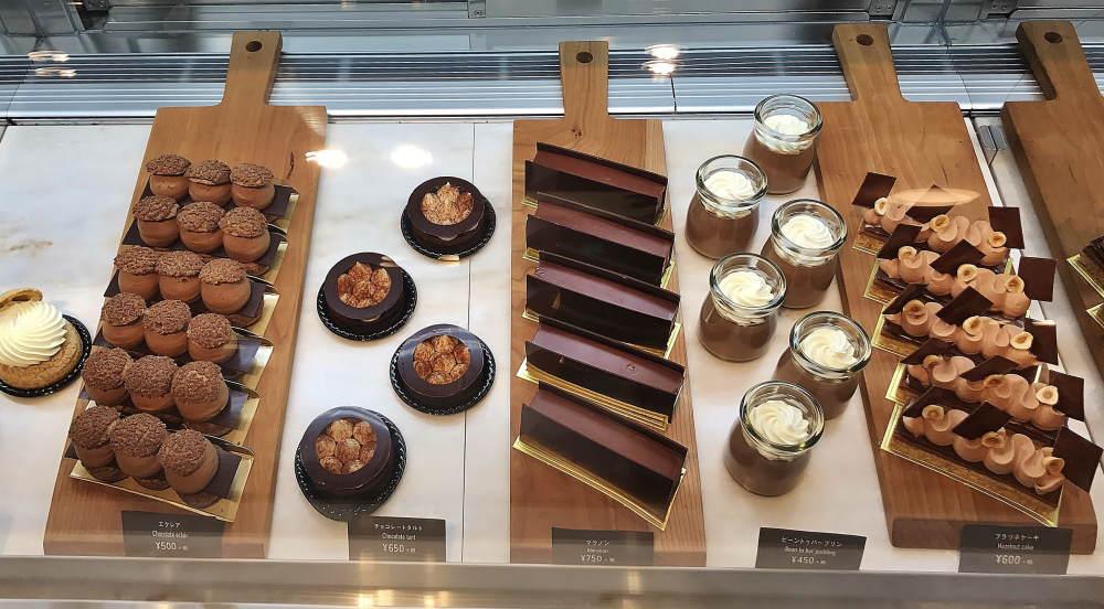 中目黒 チョコレートカフェのケーキの種類