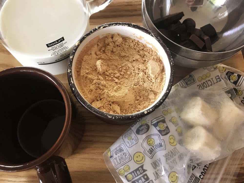 バナナときな粉のチョコレートドリンク 材料
