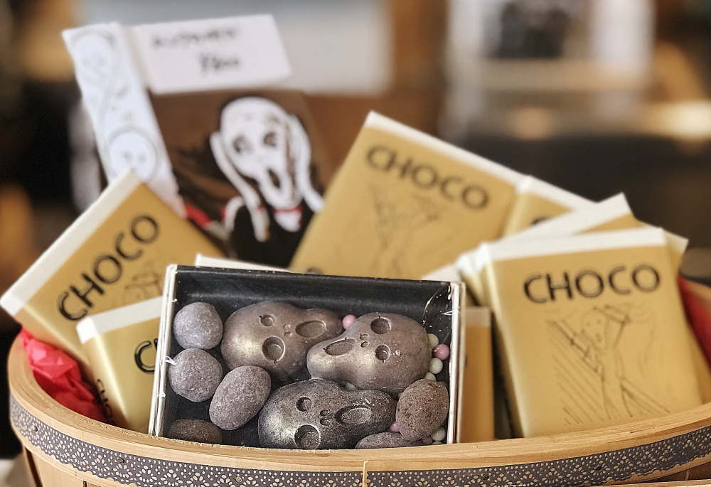 ムンクの「叫び」型のチョコレート