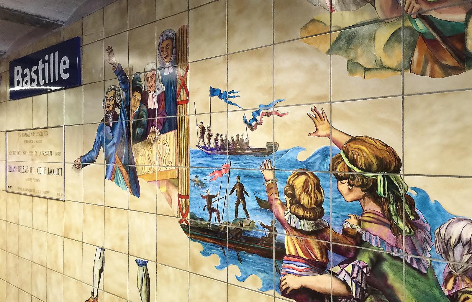 バスティーユ駅 壁画
