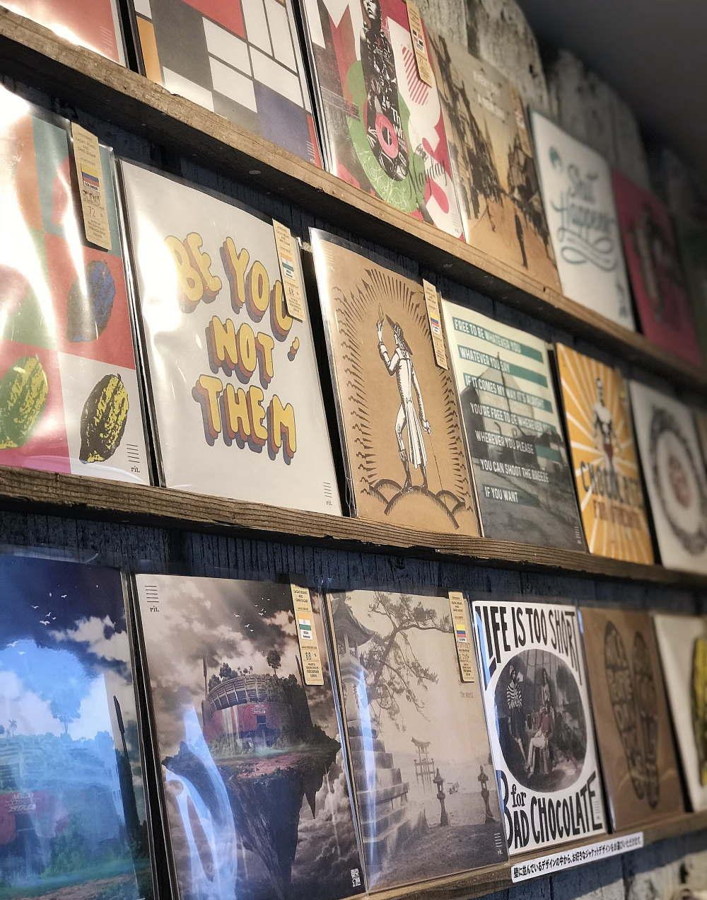 リタルダンド レコードチョコレート 店内展示
