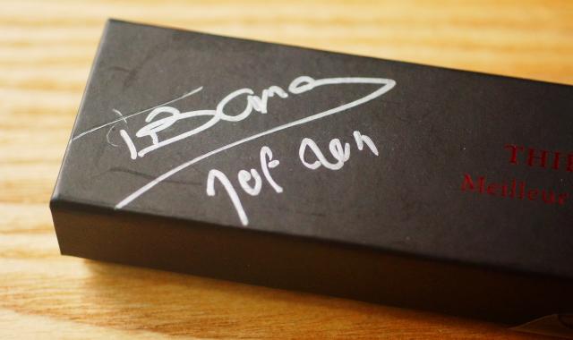 ティエリーバマス バロタンにもらったサイン