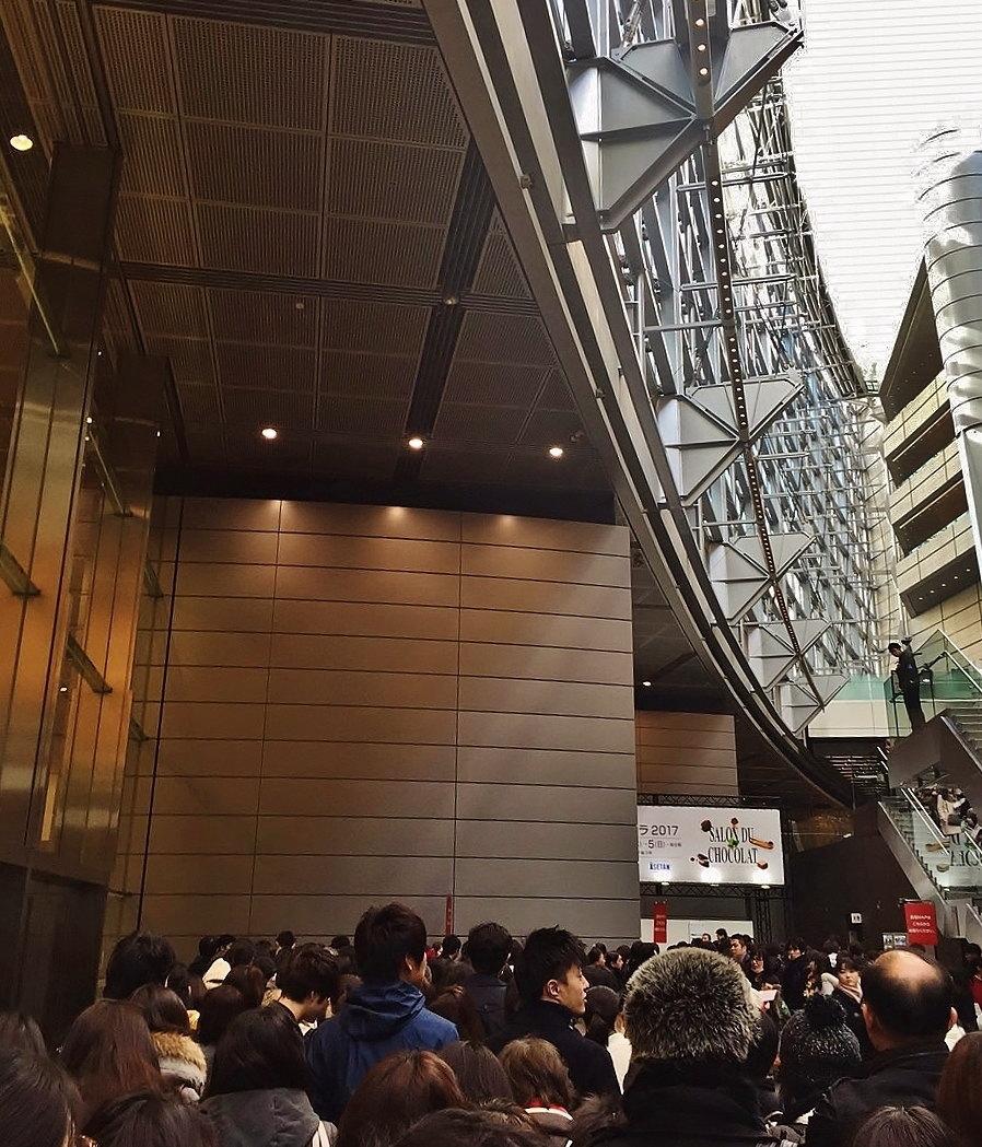 サロンデュショコラ 会場 東京国際フォーラム 行列