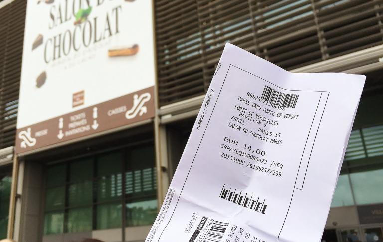 サロンデュショコラパリ チケット 14ユーロ
