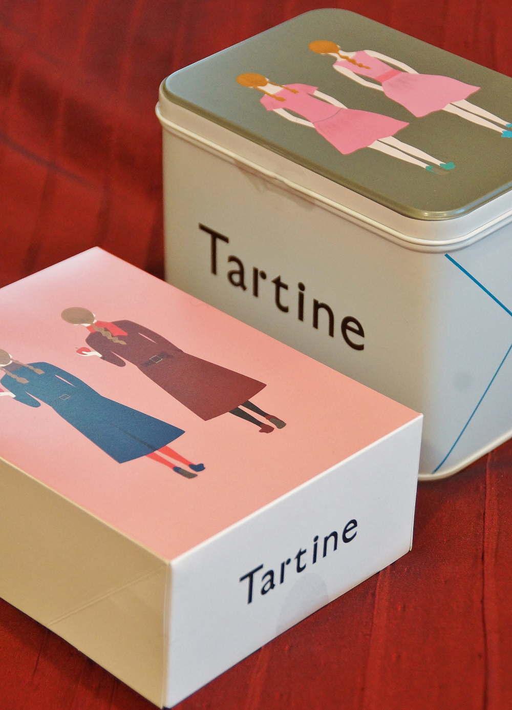 タルティンの箱と缶のデザイン