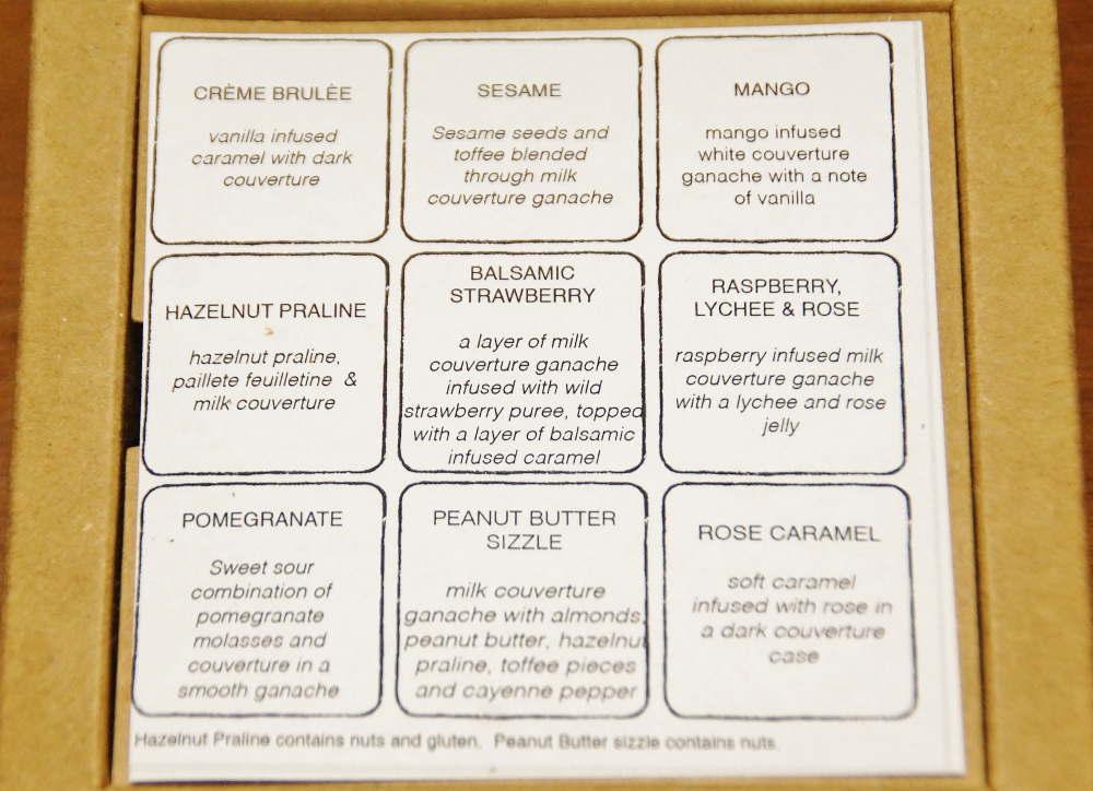 ショコラトルアルチザンチョコレート&カフェ ボンボンショコラアソートの内容